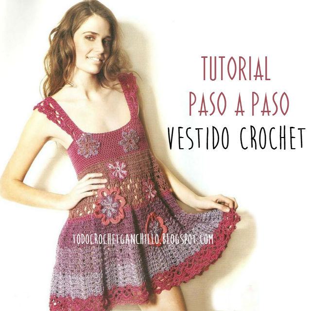 Vestido fresco para tejer con Ganchillo / Paso a paso | Todo crochet