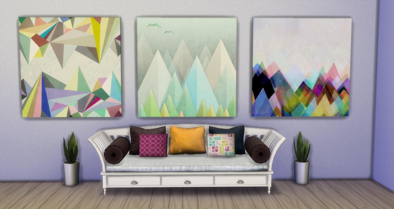my sims 4 blog paintings by ashliesims