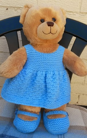 Linmary Knits Teddy Knitted Dress And Shoes