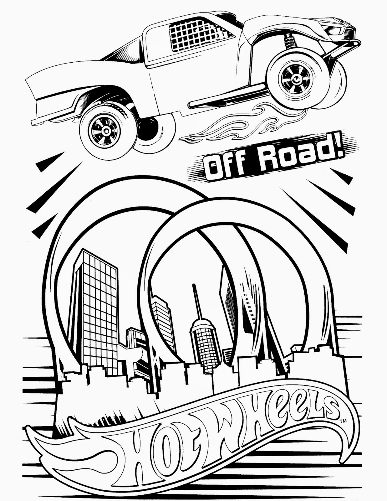 Coloring pages for hot wheels - Hot Wheels Coloring Pages 88