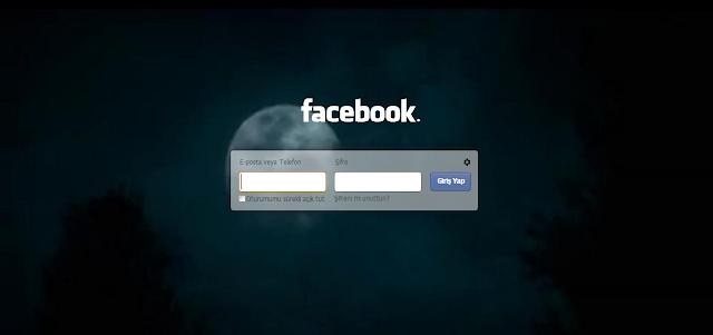 Facebook giriş ekranı değiştirme uygulaması