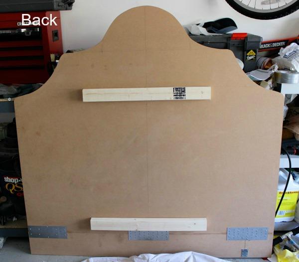 how to hang fabric headboard 2