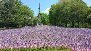 Boston Common flag garden on May 22