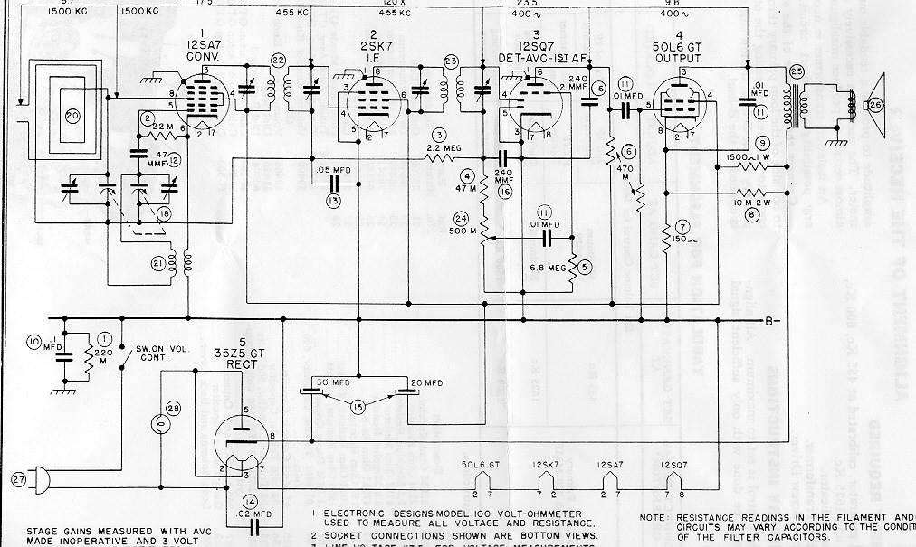 the radio builder  rca victor 8x541 schematic and trouble
