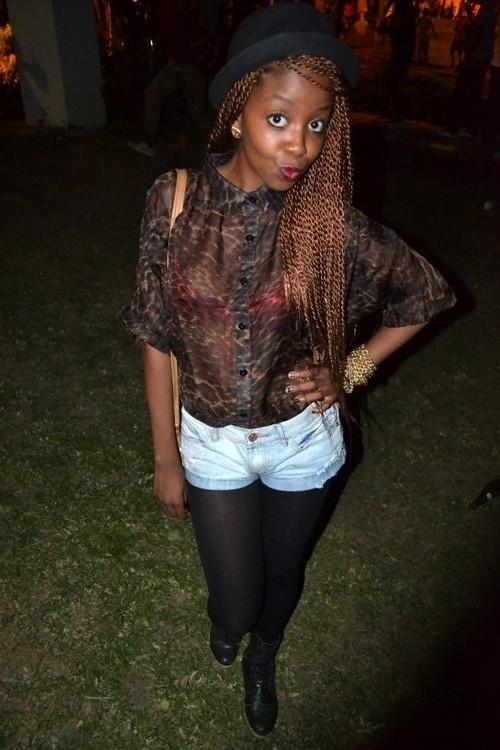 animal print blouse, african street style