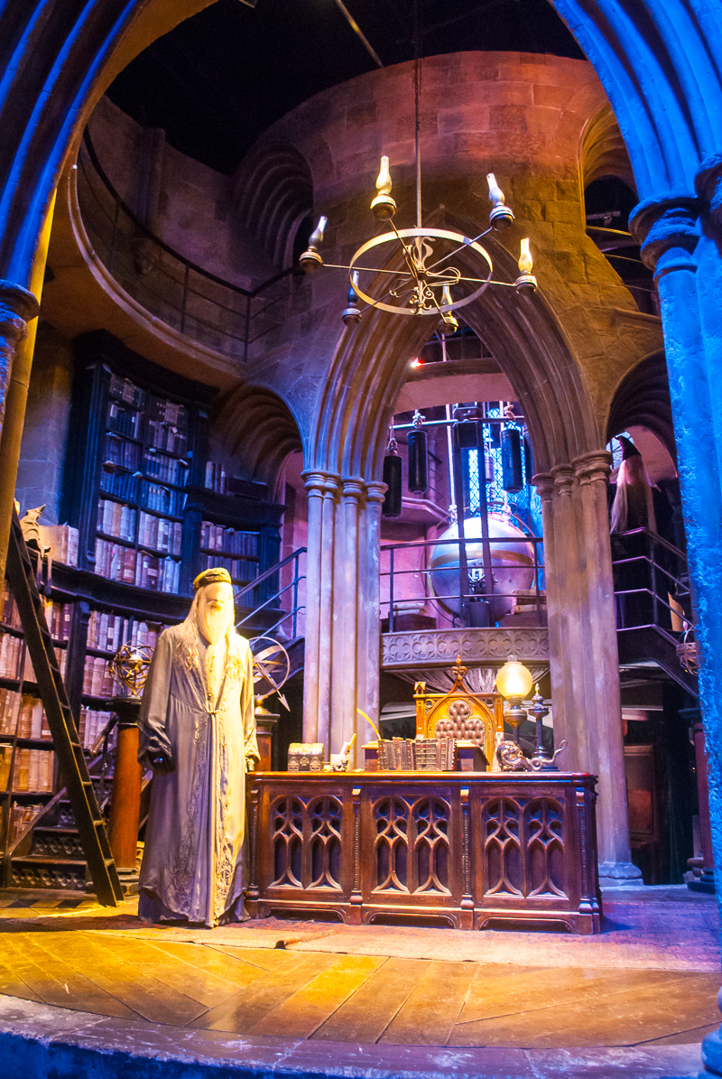 Dumbledore's office in Harry Potter Studios, Engalnd