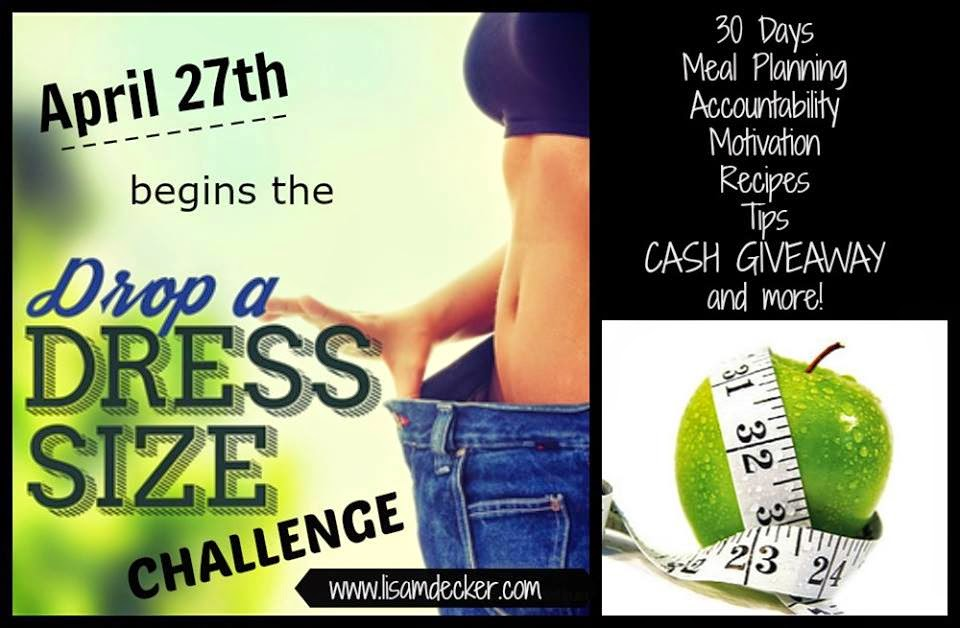Drop a Dress Size Challenge, Online Health and Fitness Accountability Groups, Meal Planning Support