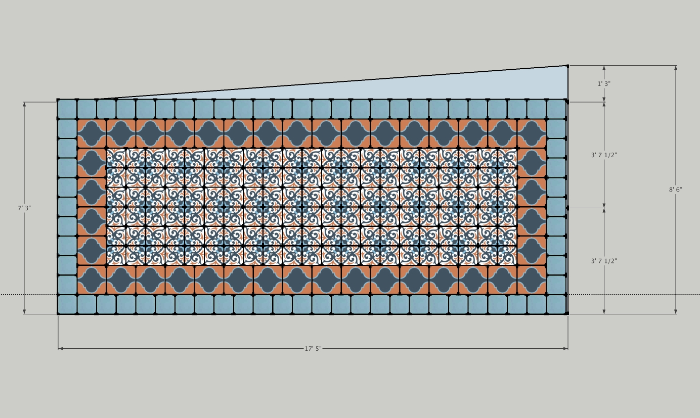 Backsplash tile layout