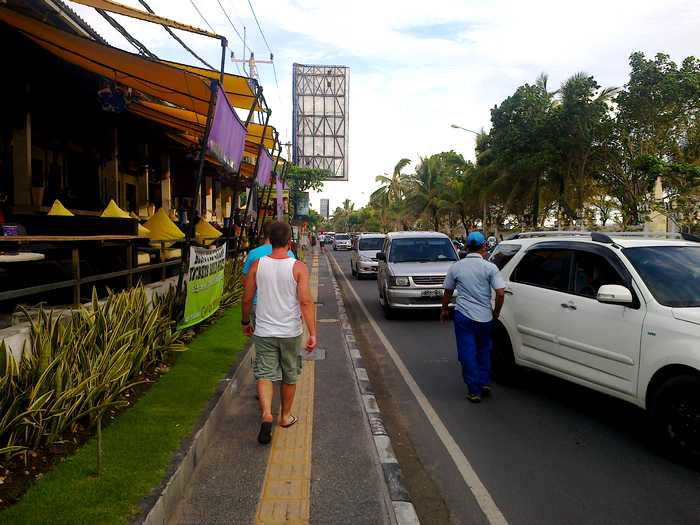 Street on Kuta Beach Bali