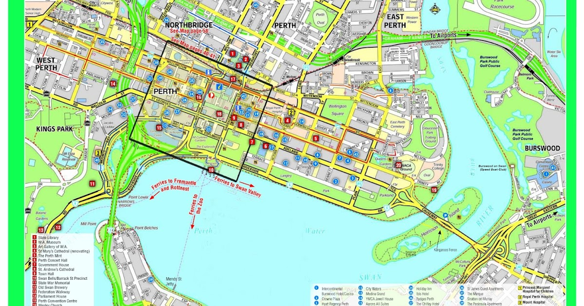 Map Of The Perth Cbd The Shed S Guide To Perth