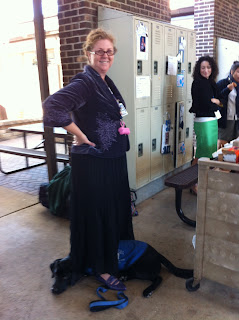 Before the breaksale madness, Coach hides under my skirt (it is a very long skirt and I am standing!).