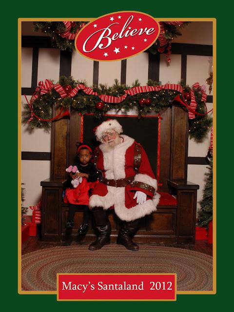 V and Santa at Macy's