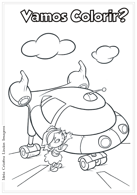 Mini Einsteins Rocket e June desenho para colorir