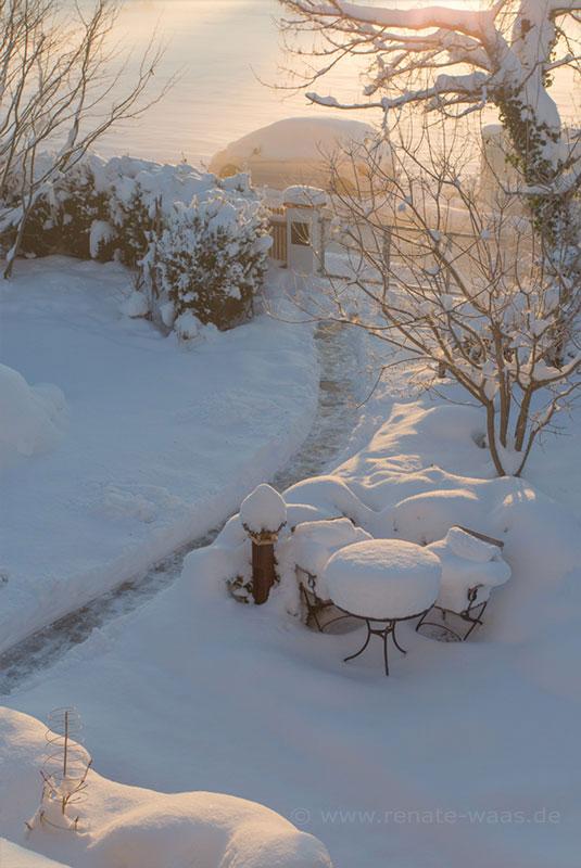 Schnee ist der schönste Schmuck im winterlichen Garten - aber es gibt noch viel mehr Möglichkeiten, den Garten auch im Winter attraktiv zu gestalten