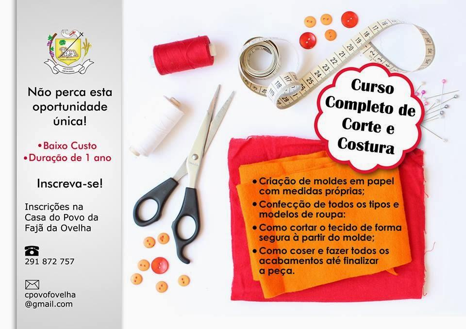 NOVO CURSO COMPLETO DE CORTE E COSTURA