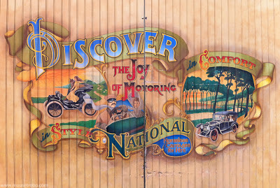 Disneyland mural Main Street Horseless Carriages National
