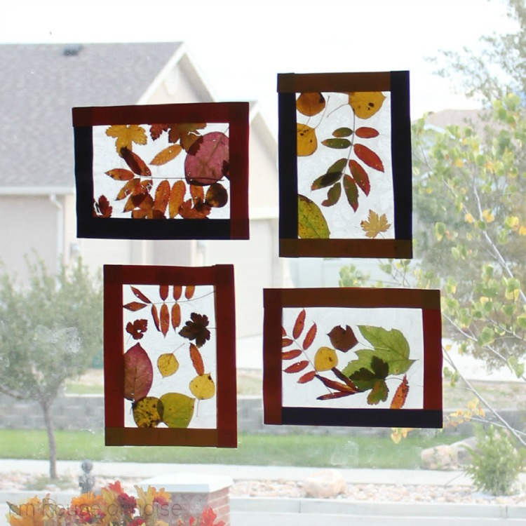 House of noise i mean boys kids craft fall leaf for Fall decorating ideas with construction paper