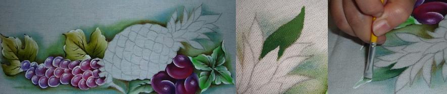 pintura em tecido abacaxi como pintar abacaxi