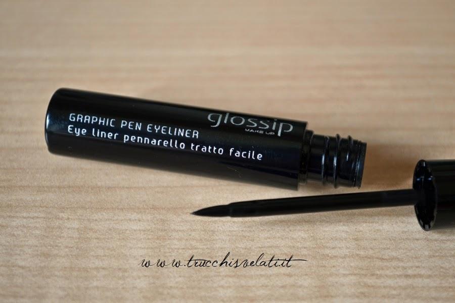 glossip make up graphic pen eyeliner nero