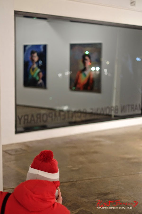 Red beanie and sloppy joe - Martin Browne Contemporary - Kent Johnson for Street Fashion Sydney.