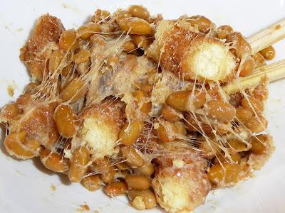 納豆にミヤタのヤングドーナツ