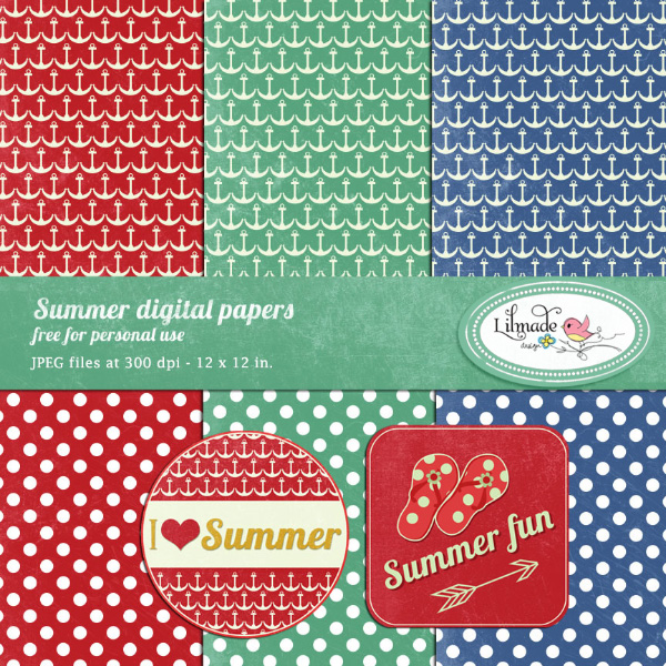 http://lilmade.com/free-summer-digital-papers-and-printable-labels/
