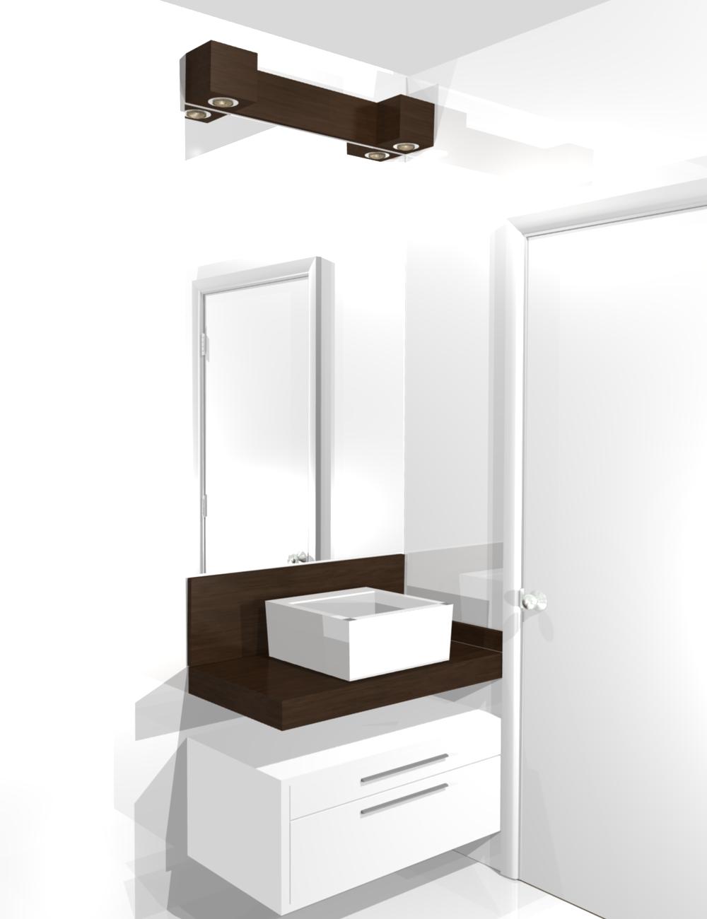 Pin moveis planejado banho banheiro gabinete pequenos for Cocinas modernos pequenos