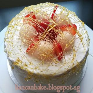 spun-sugar-lychee-cake-liancanbake.blogspot.sg