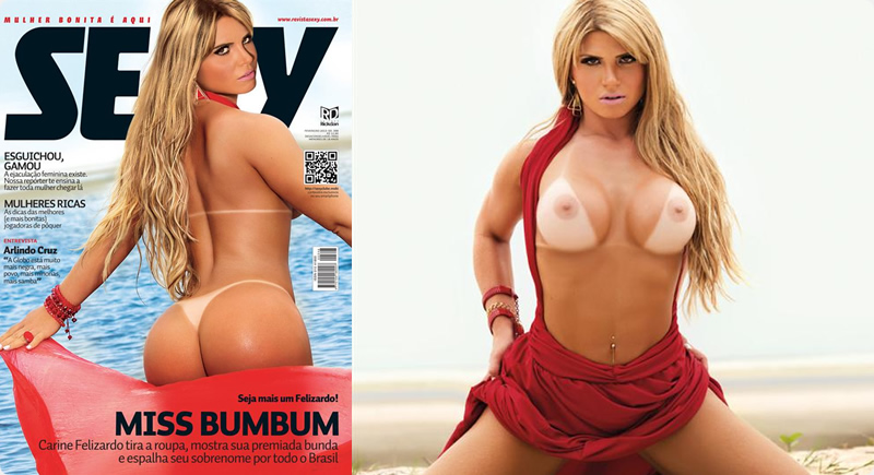 Sexy Fevereiro – Carine Felizardo (Miss Bumbum)