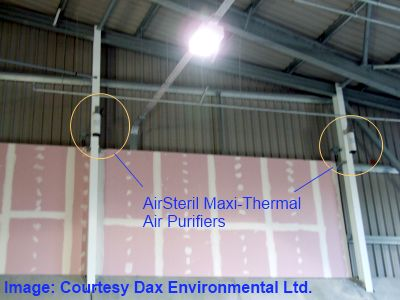 waste plant odour prevention airsteril