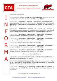 C.T.A. INFORMA CRÉDITO HORARIO CRISTOBAL NIETO, OCTUBRE 2019