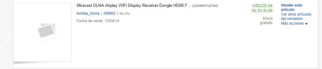 Prueba de que les compré un Dongle Miracast.
