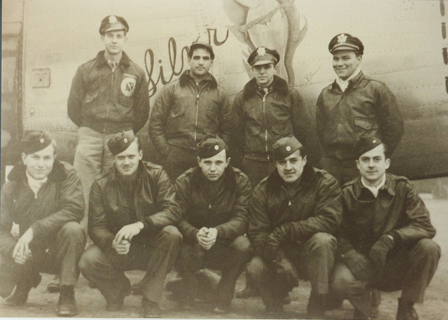 The Crew Of 415th Bomb Squadron 98th Group Bottom Row From Left To Right John Norris