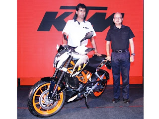KTM 390 Duke was launched on 25 June at Pune, India