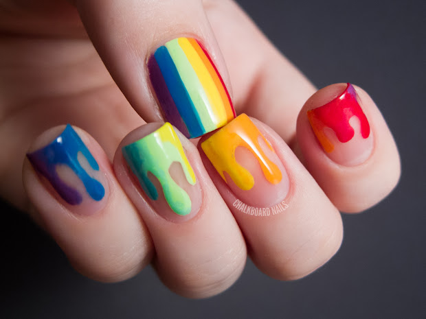 trippy drippy chalkboard nails