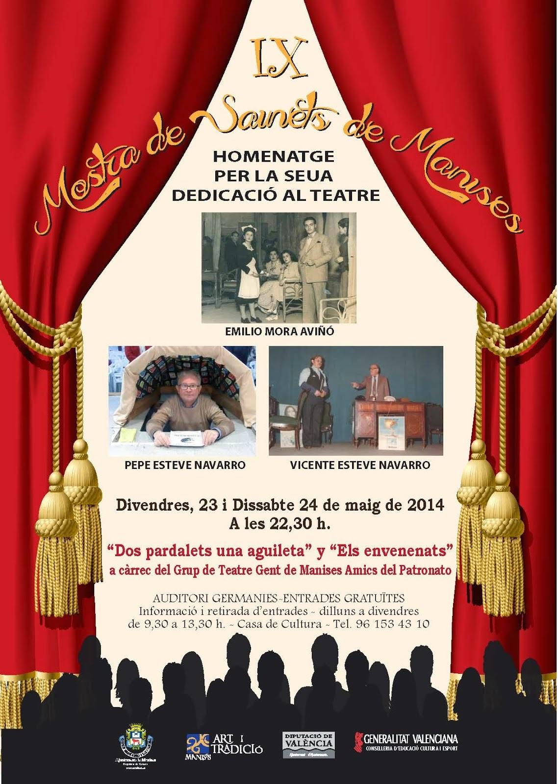 MOSTRA DE SAINETS MANISES, 23 DE MAIG 2014