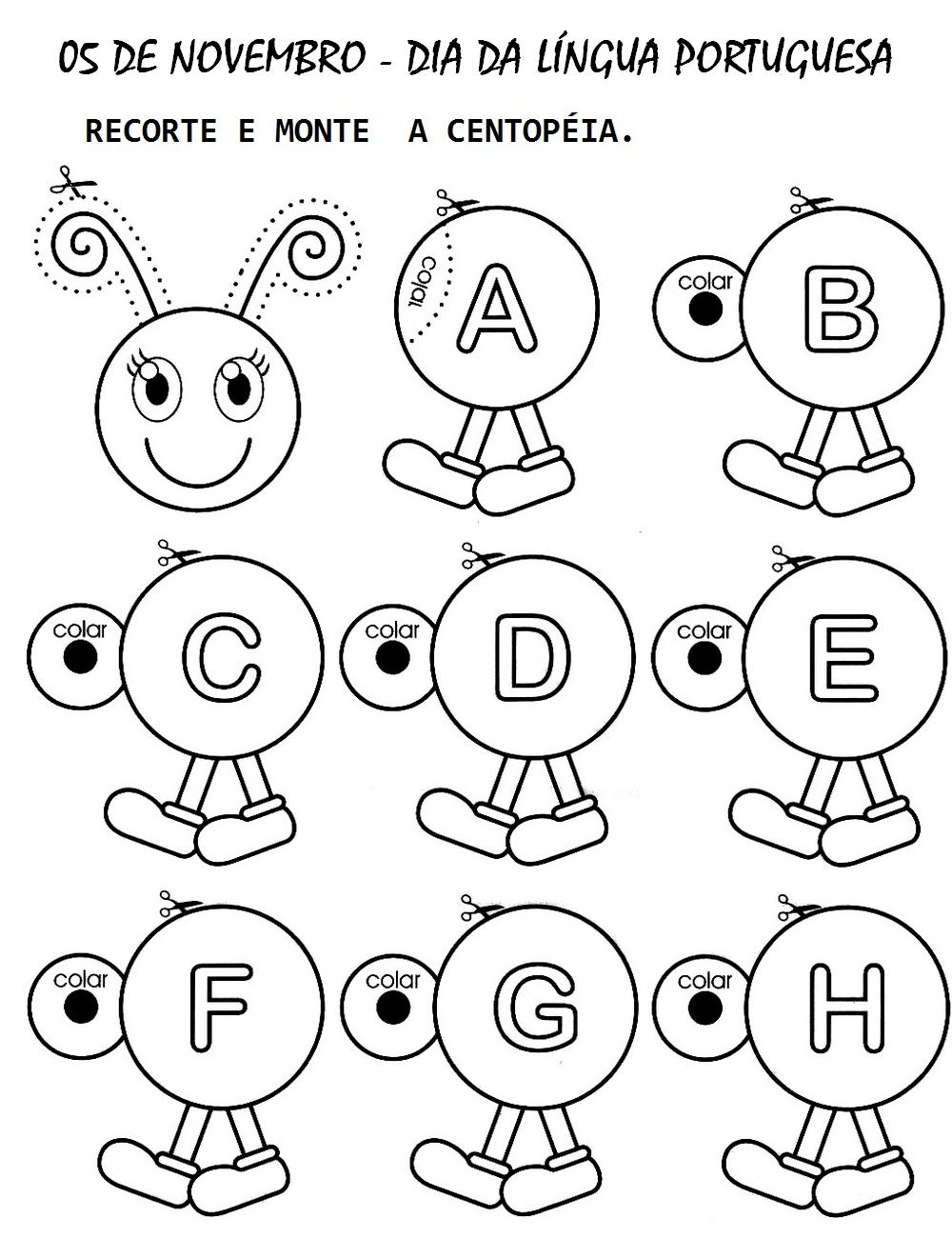 Centop  Ia De Letras Recortar E Montar Alfabeto