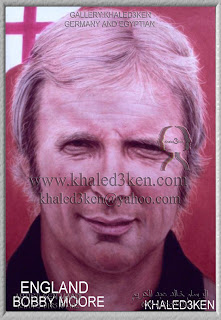STARS ENGLAND BOBBY MOORE Portrait Drawing Soccer Football Khaled3Ken Gallery