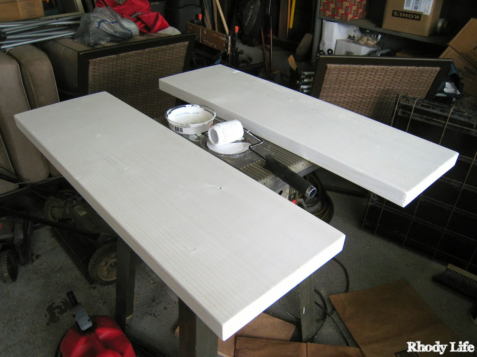 Diy overbed table - Once The Paint Dries You Are Ready To Add An Optional Protective Coat Onto The Boards I Decided To Use A Spray Polyurethane To Protect The Paint On The