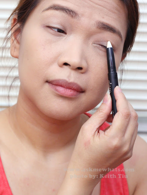 a photo of a Valentines Day Makeup tutorial Using Glam 21 One Shot Coctails Eye Crayon in PInk Colada