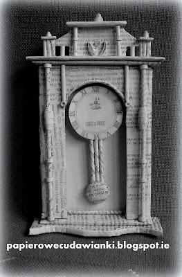 Zegar z tektury ,czyli kolejny element w mojej ramie