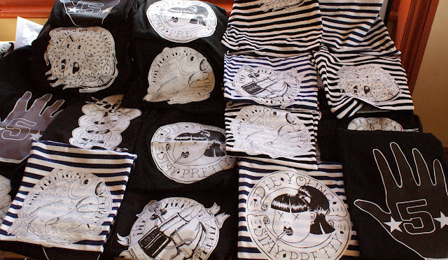 T-shirts, tattoo, vintage, DIY Market, Paris, Kitsch, Die young stay pretty, kaiser calavera, home made