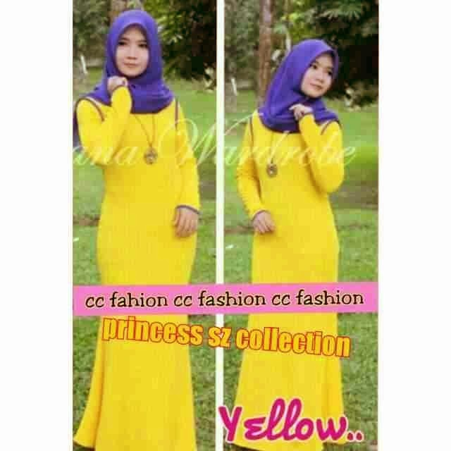 Baju wanita Cahaya dress warna yellow