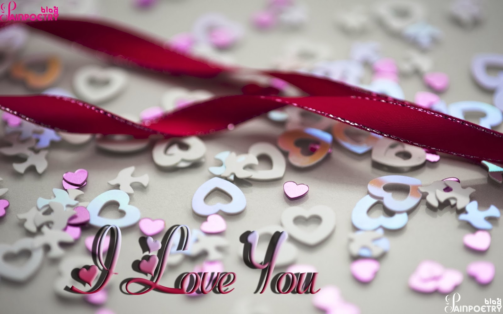 Love-Wishes-Wallpaper-With-Lot-Of-Hearts-Droped-On-Floor-With-Ribbon-Image-HD