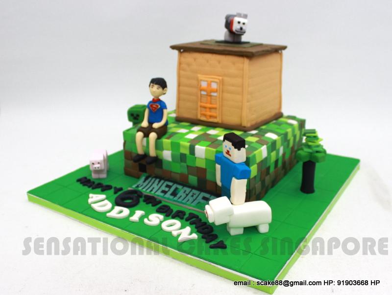 The Sensational Cakes Customized Boy For Minecraft Cake Singapore