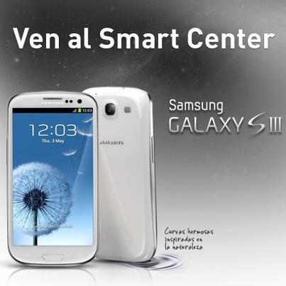 CLARO QUE TIENES MAS: Samsung Galaxy S III en Smart Center