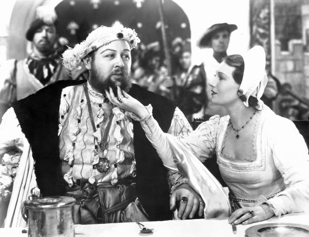 crazy film guy the private life of henry viii  a tender moment between henry viii charles laughton and wife 5 catherine howard binnie barnes
