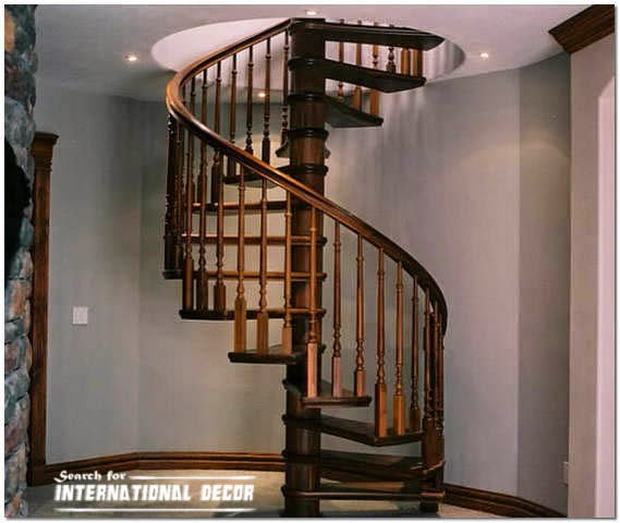 Spiral Staircase To The Second Floor Or Attic In A Private Home International Decoration
