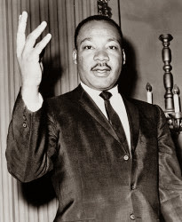 Black and White Picture of Dr. Martin Luther King Jr.