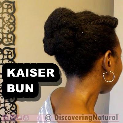 Natural Hair Kaiser Bun Protective Style